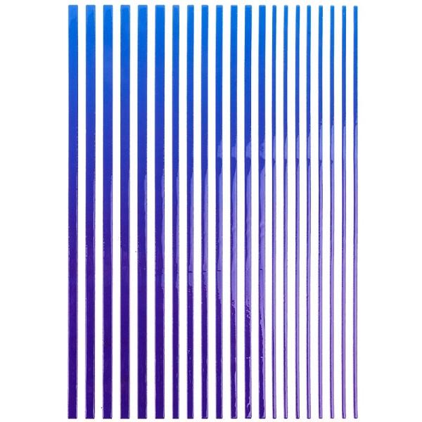 """3-D Sticker-Bordüren """"Farbverlauf"""", 28,5cm, verschiedene Breiten, blau/violett"""