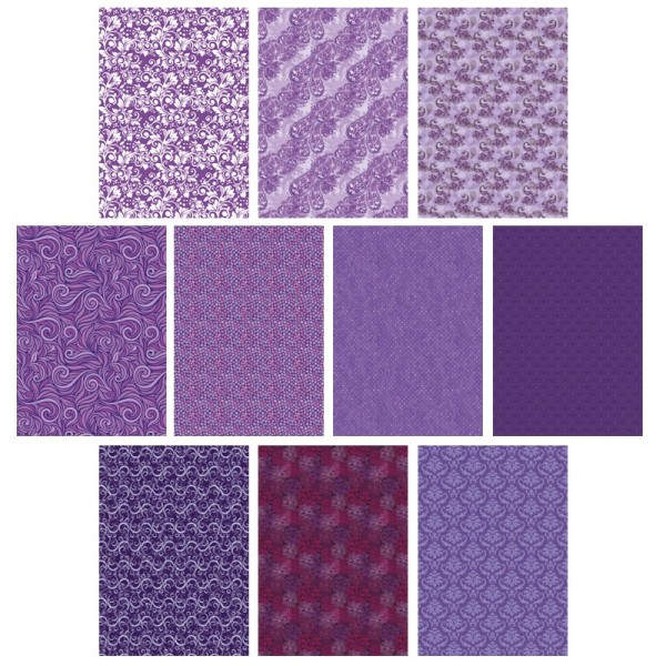 Deko-Karton Set, violett, DIN A4, 10er Set