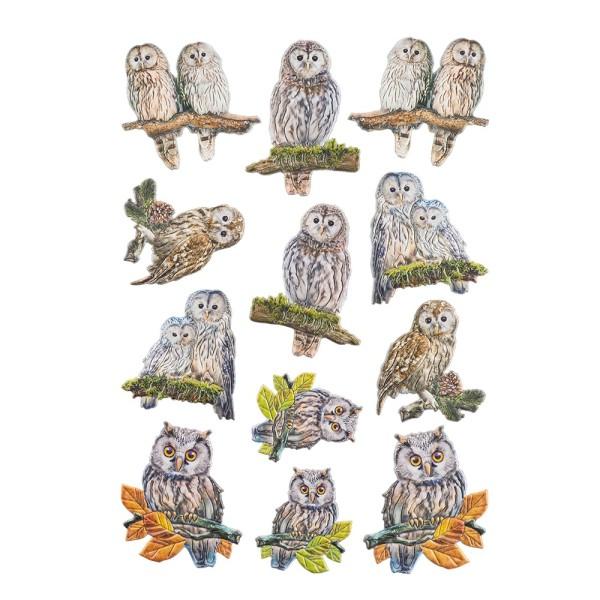 3-D Relief-Sticker, Tiere 1, verschiedene Größen, selbstklebend