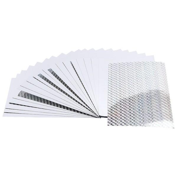 Doppel-Folien, Laser- & Spiegeleffekt, 10cm x 15cm, silber, 20 Stück