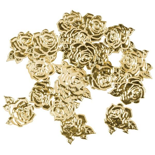 Messing Ornamente, Rose, 1,5cm x 1,5cm, 20 Stück