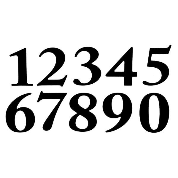 Stanzschablonen, Zahlen, 3,4cm hoch, 10 Stück