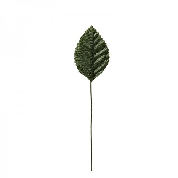 Deko-Blätter am Draht, 4cm x 2,5cm, grün, 20 Stück