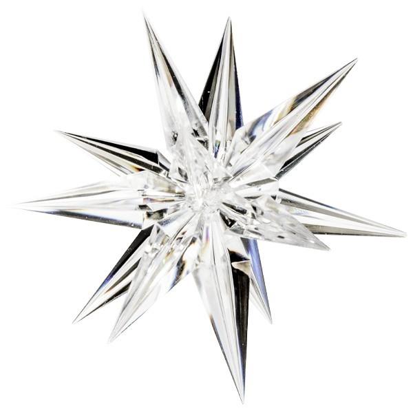 Acryl-Dekostern,. 14 cm, transparent