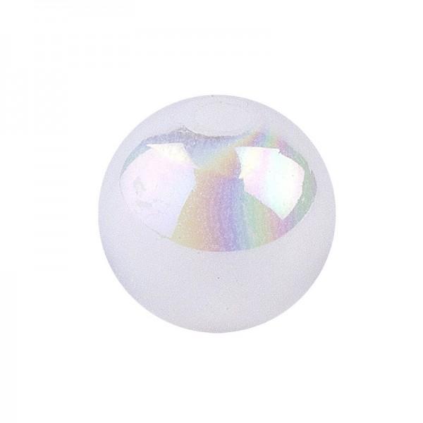 Perlen, irisierend, Ø 8mm, weiß-irisierend, 100 Stk.