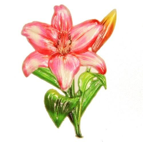 Wachsornament Lilie, 8,5 x 6,5 cm