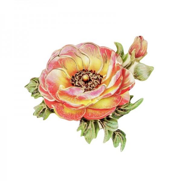 3-D Motiv, Blüte 2, Gold-Gravur & Glimmerlack, 8 cm