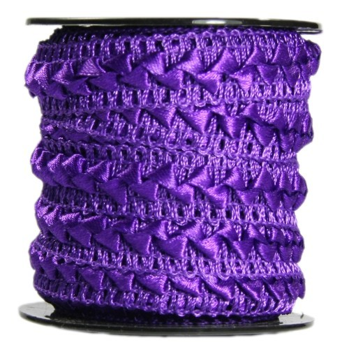 Bordürenband, Stoff, edle Dreiecke, 17mm x 10m, violett