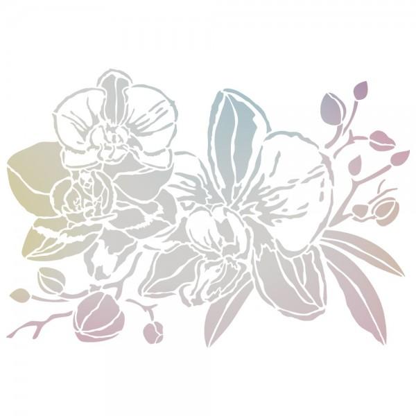Folien-Bügeltransfer, Orchideen 2, DIN A4, silber