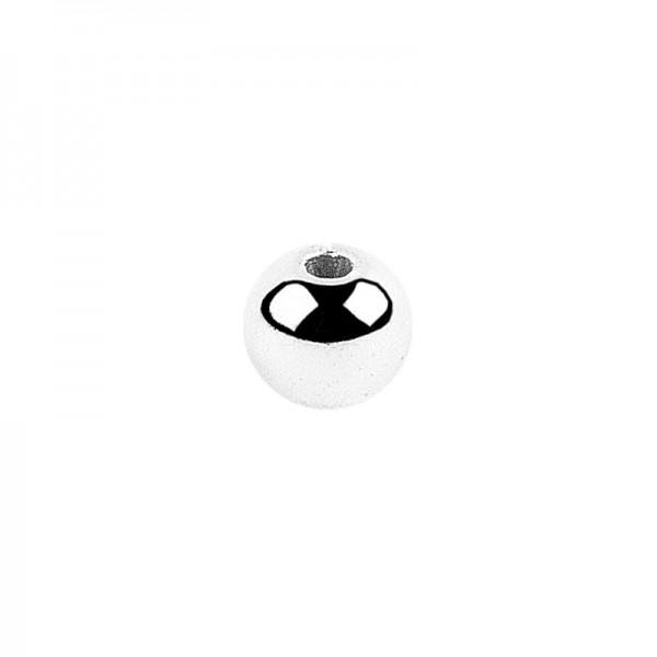 Perlen, Ø 5mm, silber, 200 Stück