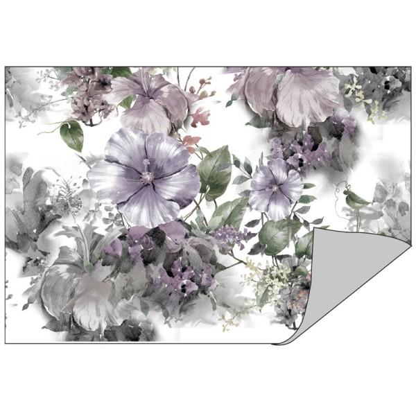 Faltpapiere Duo-Design 14, 10cm x 15cm, Blumen/taupe, 50 Stück