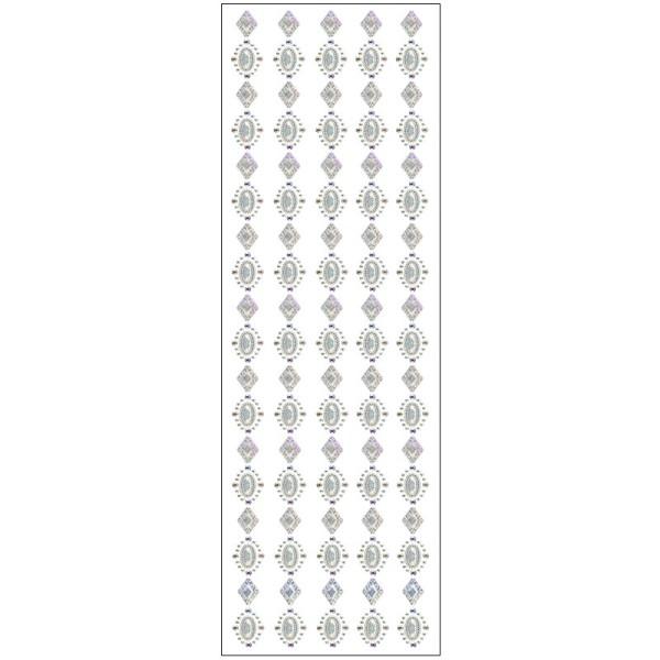 Kristallkunst, Zier-Bordüre, 10cm x 30cm, selbstklebend, klar irisierend