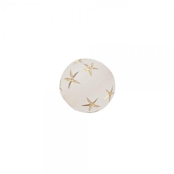Perlen, rund mit Sternen, Ø 0,9cm, transluzent, klar, gold, 100 Stück
