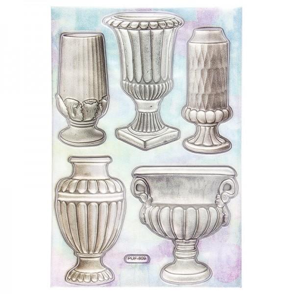 Relief-Sticker, Vasen 3, 18,5cm x 12,5cm