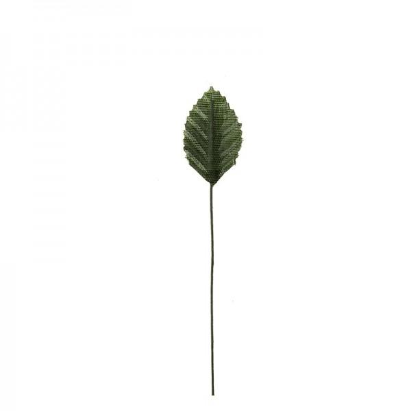 Deko-Blätter am Draht, 3cm x 1,8cm, grün, 20 Stück