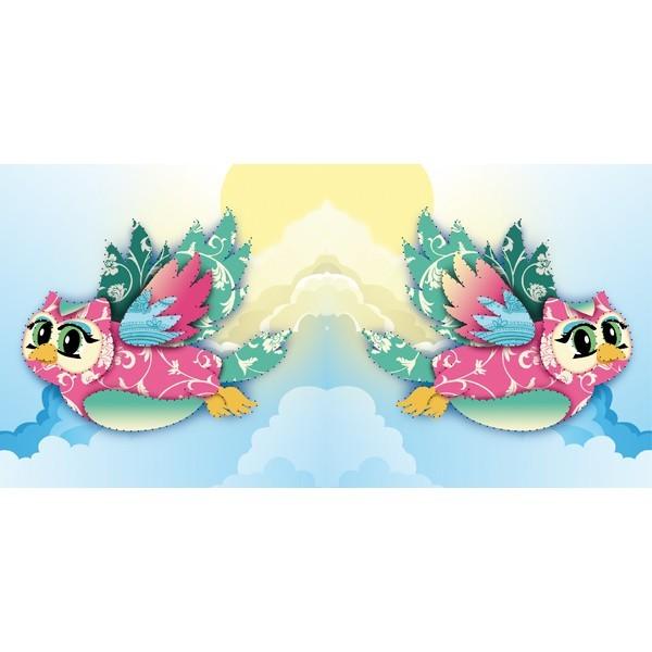 Prickel-Karte, fliegende Eule, 16 x 16 cm