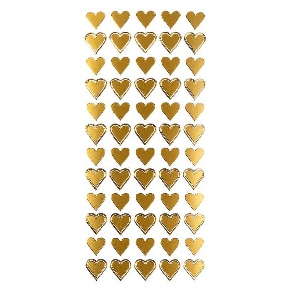 Sticker, Herzen, gold