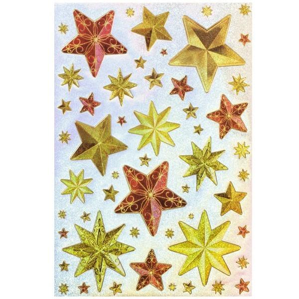 Hologramm-Sticker, Sterne, DIN A4