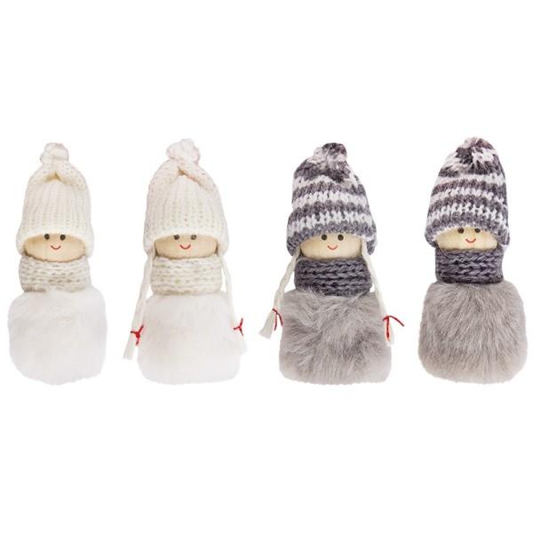 Winter-Püppchen, Anni & Leo, 7cm hoch, 4 Stück