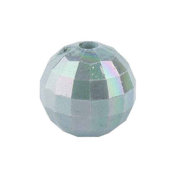 Perlen, facettiert, Ø 10mm, mint-irisierend, 50 Stück