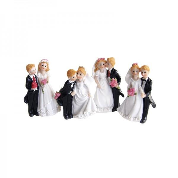 Deko-Hochzeitspaare, Steinharz, 4er Set