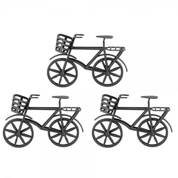 Deko-Fahrräder 2, Rohlinge, 11,5cm x 8,5cm x 3,3cm, 3 Stück