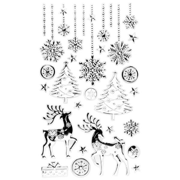 XL Relief-Sticker, Weihnachtsszene 2, 41cm x 24cm