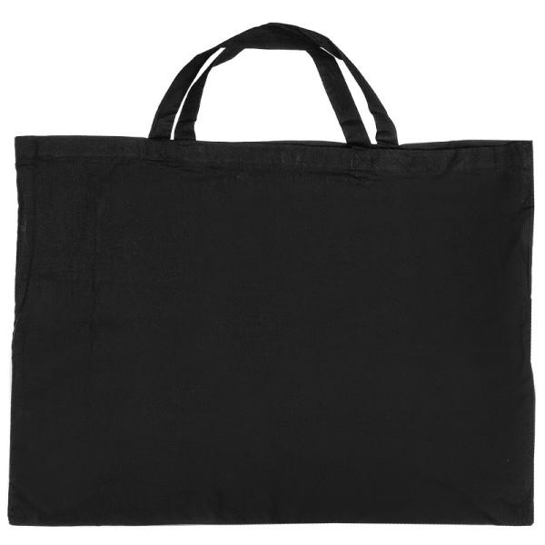 Baumwolltasche, 70cm x 50cm, kurze Henkel, schwarz