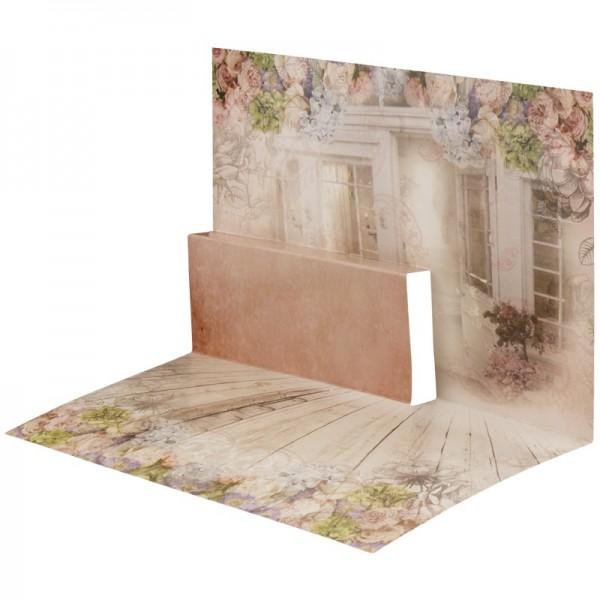 Pop-Up-Grußkarten-Einleger, gefaltet 11 x 15,5 cm, Terrasse