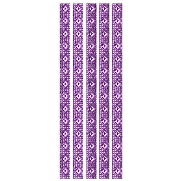 Royal-Schmuck, 5 selbstklebende Bordüren, 29 cm, violett