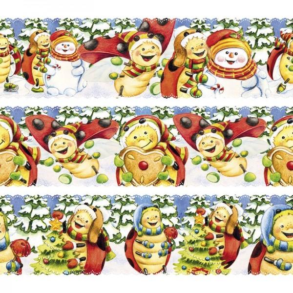 """Zauberfolien """"Lucky Lo im Winter"""", Schrumpffolie für Ø6cm, 5,5cm hoch, 6 Stück"""