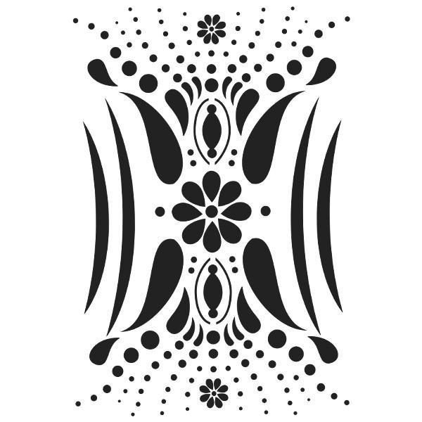 Laser-Kunststoff-Schablone, DIN A3, Schlanke Linie, Floral-Design