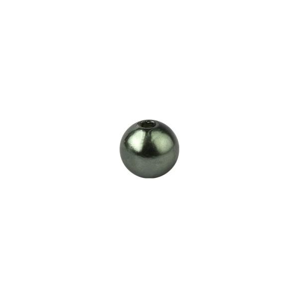 Perlen, Perlmutt, Ø 6mm, dunkelgrün, 150 Stück