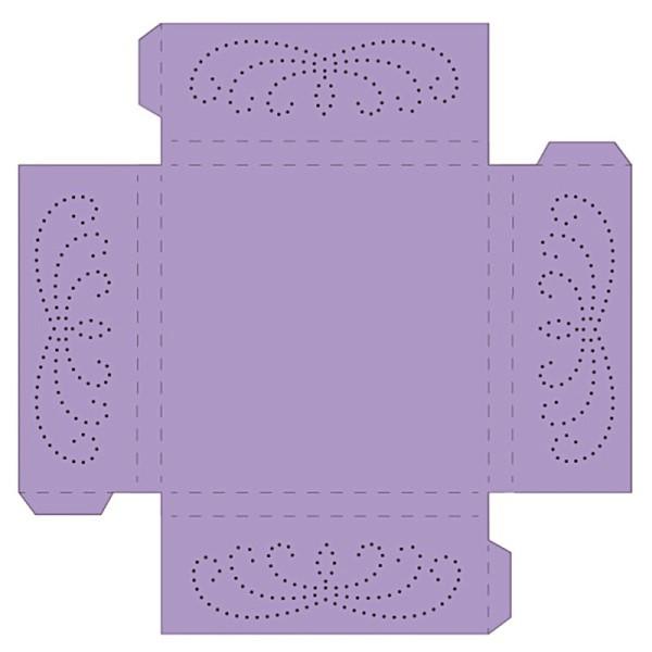 Prickelpodest für Deko-Lichtwürfel, 11x11cm, flieder