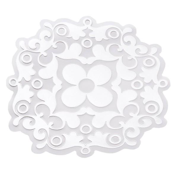 Noblesse Zierdeckchen 4, Transparentpapier, Ø 13cm, weiß, 20 Stück