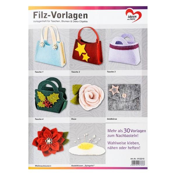Anleitungsheft Filz-Vorlagen, 30 Vorlagen