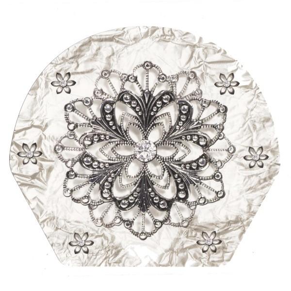Deko-Bild, Schmuck-Blüte, 18,5 x 20,5 cm, 2er Set