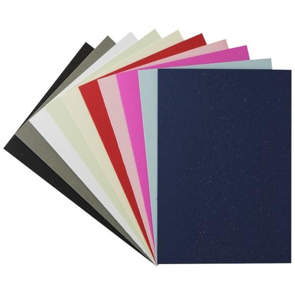 """Sonderpreis: 50er Grußkarten-Set, """"Glimmer"""", B6, 10 Farben"""