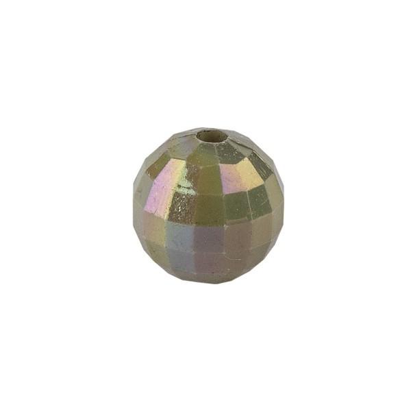 Perlen, facettiert, Ø 6mm, peridot-irisierend, 150 Stk.