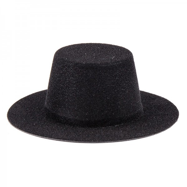 Hüte, Zylinder, schwarz beflockt, 2,5cm hoch, 10 Stück