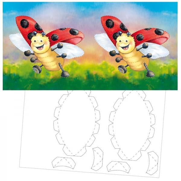 Prickel-Karte, Lucky Lo, inkl. Böden & Ecken, 16cm x 16cm