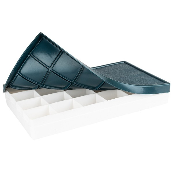Mischpalettenkasten mit Deckel, 21,5cm x 12,3cm x 3cm, 24 Fächer