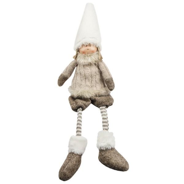 Deko-Puppe, Stefan, sitzend: 32cm hoch, mit Schlenkerbeinen