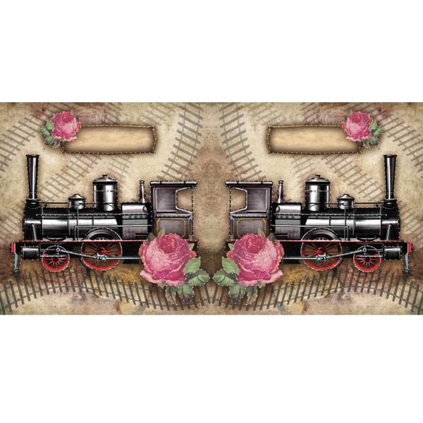 Prickel-Karte, Lokomotive, 16 x 16 cm