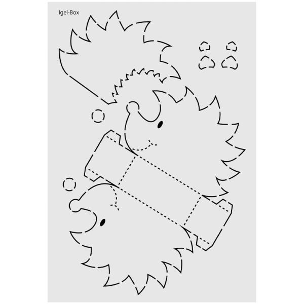 "Design-Schablone Nr. 7 ""Igel-Box"", DIN A4"