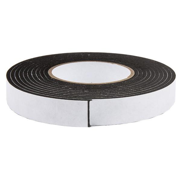 3-D Schaumklebeband, 12 mm breit, 2 mm hoch, 2 m lang, schwarz