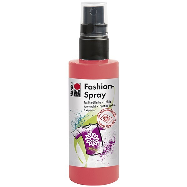 Marabu Fashion-Spray/Textil-Sprühfarbe, 100ml, flamingo