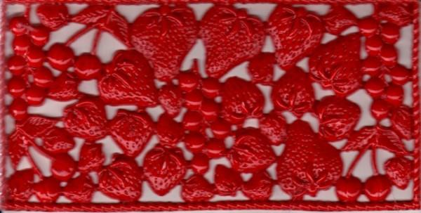 Wachsornamente-Erdbeeren, Kirsche ca.160x80mm