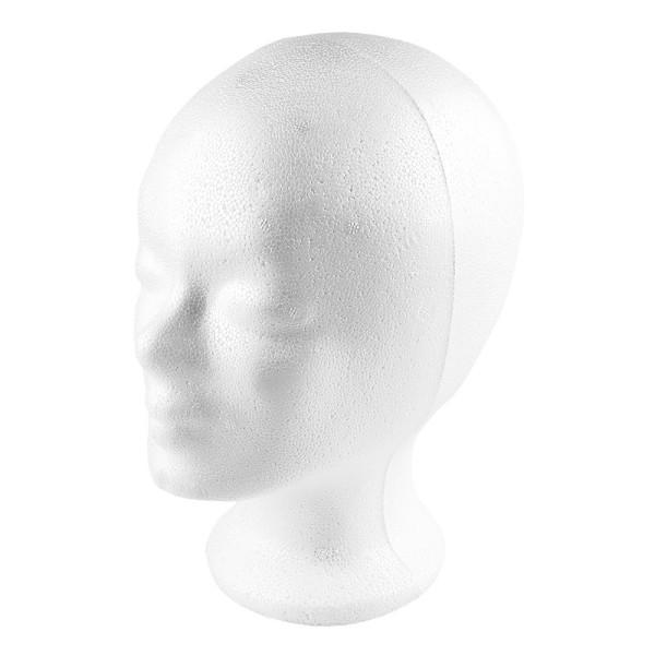 Styropor-Kopf, 21cm x 16cm x 25,7cm
