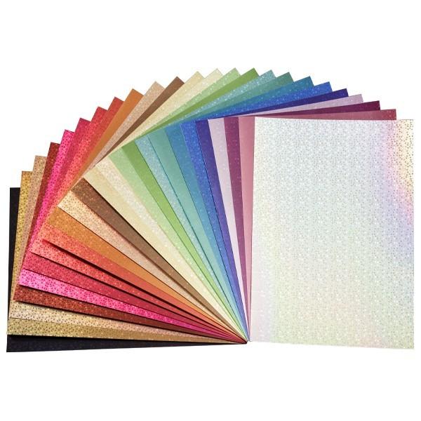 Holografie-Karton, Sterne, DIN A4, 25 Bogen